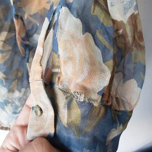 Joie Tops - Joie Floral 3/4 Sleeve Blouse - 100% Silk